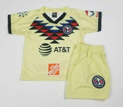 $18 • Buy Club America Home Kid's Soccer Jersey Futbol Mexico Liga Mx Jersey And Shorts