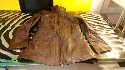 $ CDN53.82 • Buy Danier 1/2 Trench Coat Leather Jacket Womens Size Small Good Cond Short Duster