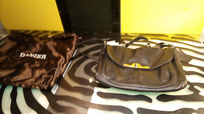 $ CDN39 • Buy Danier Black Leather Purse Handbag Good Condition With Storage Bag