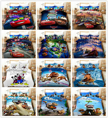 3D Disney Toy Story Cars Kids Duvet Cover Set Quilt/Comforter Cover Pillowcase • 35.99£