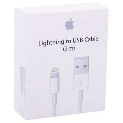 AU19.95 • Buy Genuine Apple Lightning Charging Data Cable MD819 (2 M) - Retail Pack (AU Stock)