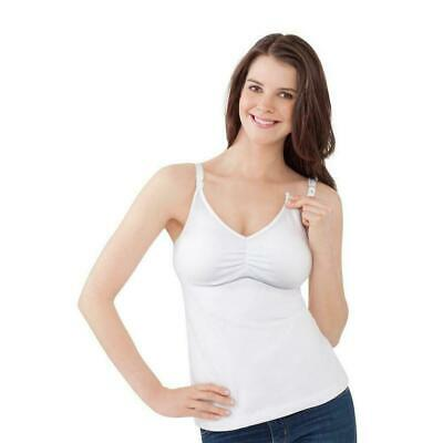 $12 • Buy Bravado Essential Nursing Bra Tank White 36 B / C Lots Of Wear Cotton Classic
