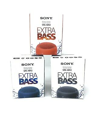 $28.99 • Buy Sony SRS-XB12 Genuine Extra Bass Portable Bluetooth Speaker SRSXB12 Water Proof