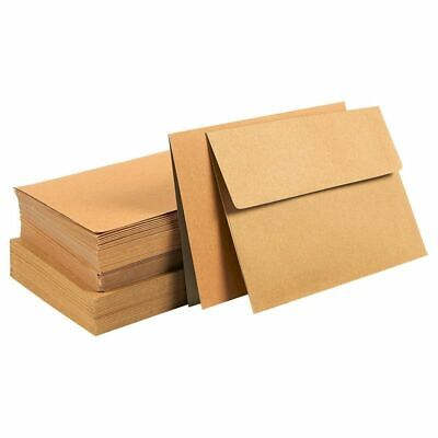 $10.99 • Buy 50 Sheets Blank Note Brown Half Fold Greeting Card With Envelopes, 7 X5  Folded
