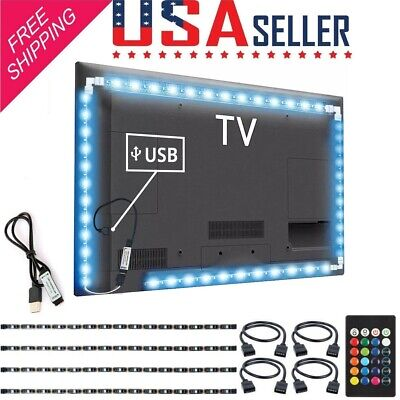 $5.98 • Buy LED Strip Light Tape RGB 5050 DC 5V USB Cable 1M 2M 3M DIY TV  Background Decor