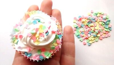 10g Fimo Heart Sprinkles For Whip Glue Clay Decoden Slime Supplies, • 3.49£
