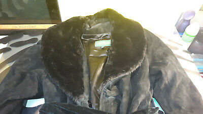 $ CDN299 • Buy Danier Suede Leather Long Trench Style Jacket Womens Size Small Good Condition