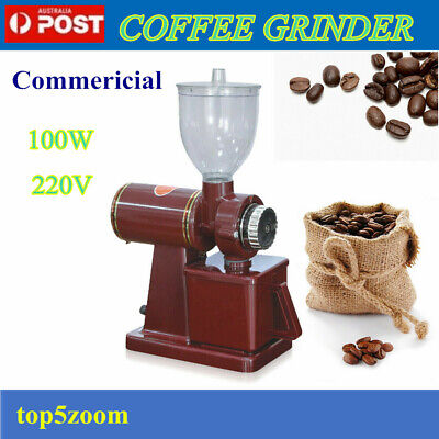 AU65 • Buy Commercial Electric Automatic Coffee Grinder Burr Espresso Bean Home Grind 220V