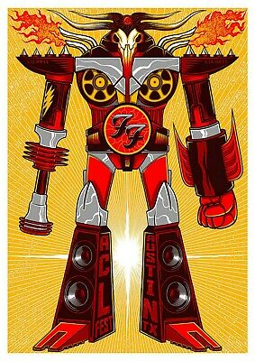 Reproduction  Foo Fighters - Austin, Texas ,  Poster, Grunge, Home Wall Art • 13.50£