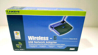 $15 • Buy New In Box Linksys Wireless-B Router, USB Network Adaptor,# WUSB11 Or (802.11b)