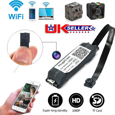 View Details Mini Wireless IP Spy Hidden Camera WIFI 1080P HD For Home Surveillance Camcorder • 31.58£