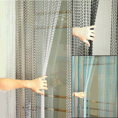 UK Metal Chain Insect Fly Door Curtain Screen Aluminium Pest Control 214 X 90CM • 41.99£