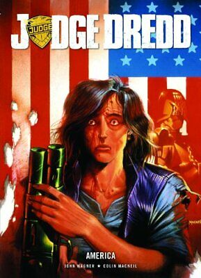 Judge Dredd: America By John Wagner Paperback Book The Cheap Fast Free Post • 22.99£