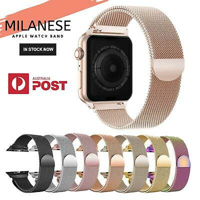 AU11.50 • Buy Apple Watch Series 5 4 3 2 1 Milanese Magnetic Stainless Steel Strap IWatch Band