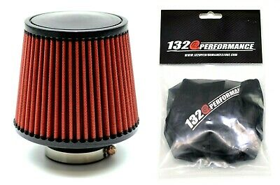$40.95 • Buy 1320 PERF FAB 3  Universal Air Filter Cone Reusable Red With Pre-Filter