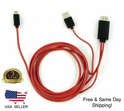 AU7.67 • Buy Micro USB MHL To HDMI 1080p Cable TV Out Lead For Android Samsung Phones