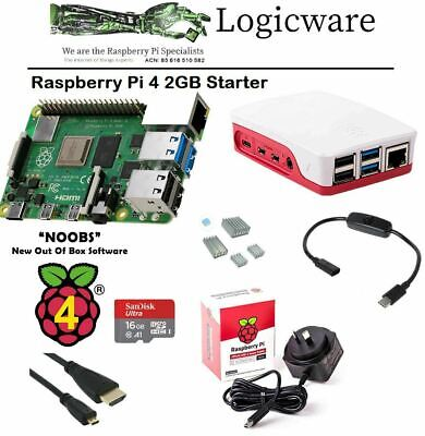AU132.95 • Buy Raspberry Pi 4 Model B 2GB Starter Pack | Great Set Of Accessories As Pictured