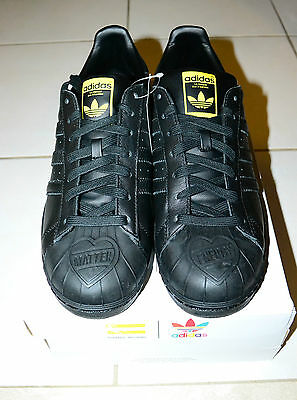 $ CDN100 • Buy ADIDAS Men Pharrell Williams Supershell Superstar MEN SIZE 10 BLACK S83345 NEW