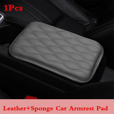 $14.98 • Buy Car Center Console Box Armrest Cover Gray Leather Protector Cushion Pad For Rest