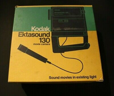 $ CDN50 • Buy Kodak Ektasound 130 Movie Camera With Box & Accessories Vintage  AS IS Untested