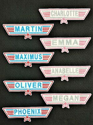 Personalised Embroidered Top Gun Style Name Patch Badge Iron On Or Sew • 3.50£