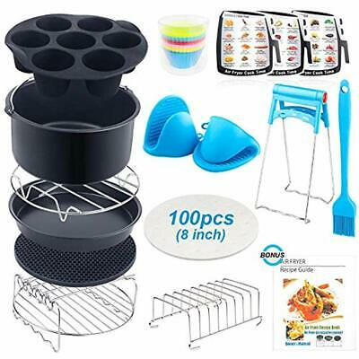 AU57.79 • Buy Air Fryer Accessories XL, 8 Inch Set Of 17 For Gowise USA Phillips Ninjia Cosori