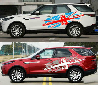 Graphics Union Jack Car Sticker British Flag Decal Fit Land Rover Discovery 2PCS • 57.59£