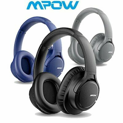 Mpow H7 Stereo Bluetooth Wireless Headset Noise Cancelling Bass Headphones W/Mic • 25.99£