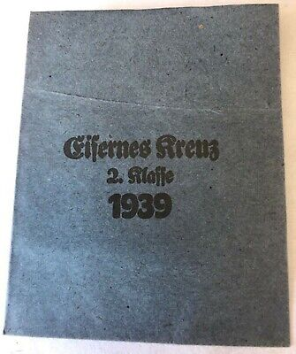 Medal German 1939 Iron Cross 2nd Class Paper Packet Of Issue - Original • 22£
