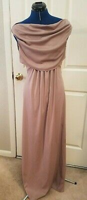 AU51.50 • Buy Vintage 1970s Formal Prom Gown Pink JC Penney Draped Long