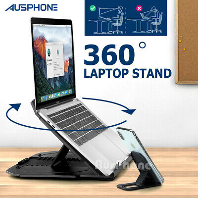 AU33.99 • Buy Ergonomic Adjustable Laptop Stand Portable Home Desk Riser Office Holder Tray