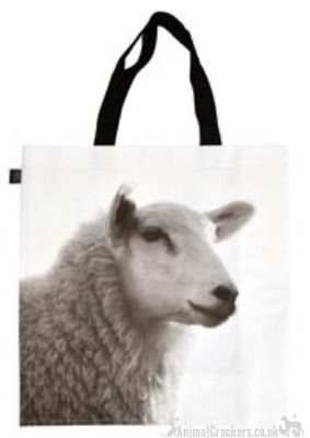 SHEEP FACE Shopping Tote Carrier Gift Bag For Life Print 2 Sides Sheep Lover • 4.49£