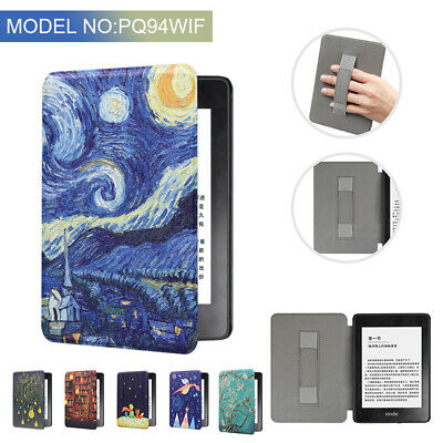For Amazon Kindle Paperwhite4 10th 2018 Leather Painted Smart Case Cover Handle • 6.89£