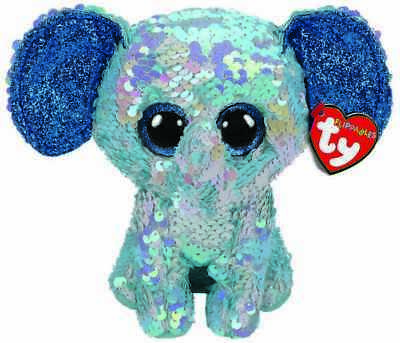 Official Ty Flippables Beanie Babies Stuart Elephant Plush Soft Toy New With Tag • 9.95£