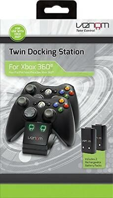 Venom Xbox 360 Docking Charging Station For Wireless Controllers + 2 Batteries • 19.49£