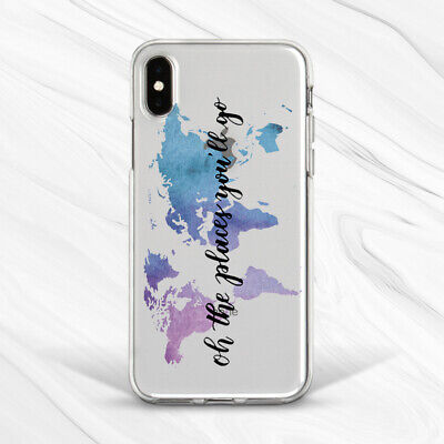 £13.76 • Buy Purple Girl World Map Saying Travel Case For IPhone 6S 7 8 Xs XR 11 Pro Plus Max
