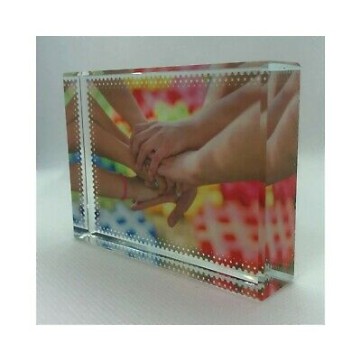 Personalised Photo Crystal Glass Block - Your Picture Custom Printed • 11.49£