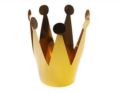 £2.82 • Buy 3 Small Gold Card Crown Party Hats | Kids Birthday Party Hats