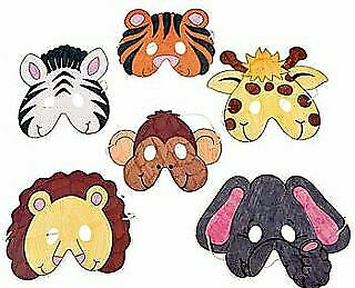 12 Wild Animal Colour In Masks To Decorate For Crafts | Masks To Decorate • 7.37£