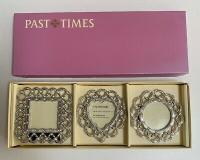 Past Times Set Of Three Paisley Pearl Frames  • 19.99£