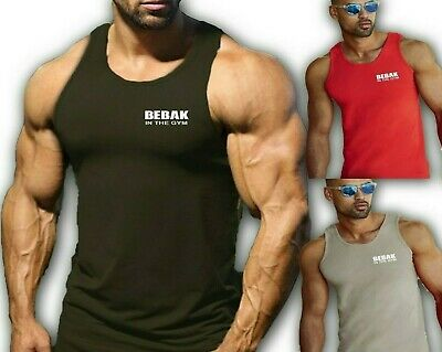 Mens Gym Vest T Shirt  Bodybuilding Top Workout Clothing  BEBAK Gym Clothing MMA • 12.99£