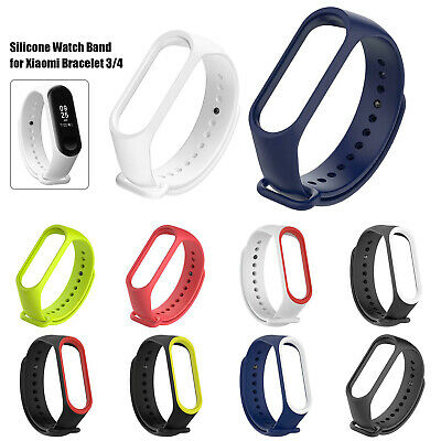$0.99 • Buy For Xiaomi Mi Band 4 3 Watch Strap Silicone Wristwatch Band Bracelet Replacement