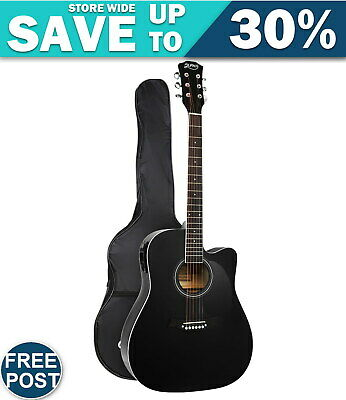 AU81.17 • Buy Alpha 41  Inch Electric Acoustic Guitar Wooden Classical Full Size EQ Bass Black