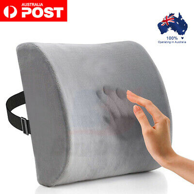 AU15.53 • Buy Memory Foam Lumbar Back Pillow Support Back Cushion Home Office Car Seat Chair