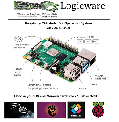 AU122.95 • Buy Raspberry Pi 4  2GB Or 4GB + Software Pack