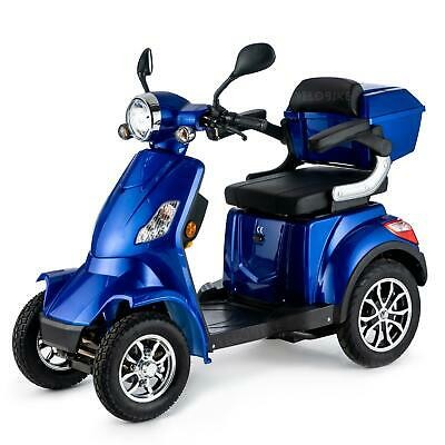 £1690 • Buy 4 Wheeled ELECTRIC MOBILITY SCOOTER BLUE 1000W 55km Travel E-scooter FASTER