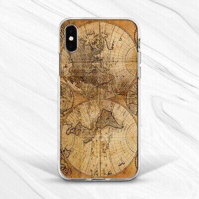 £13.76 • Buy Retro World Map Vintage Brown Case Cover For IPhone 6S 7 8 Xs XR 11 Pro Plus Max