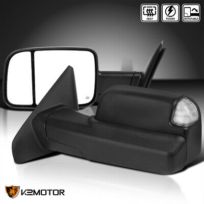 $150.38 • Buy Fits 2002-2008 Dodge Ram 1500 /03-09 2500 3500 Power+Heated LED Tow Mirrors Pair