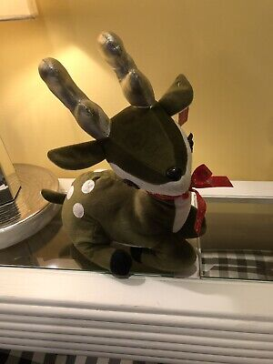 $15.99 • Buy Green Plush Reindeer Stuffed Plush By Softouch