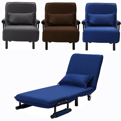 Fold Out Single Guest Z Chair Bed Recliner Futon Chair Armchair Folding Sofa Bed • 139.95£